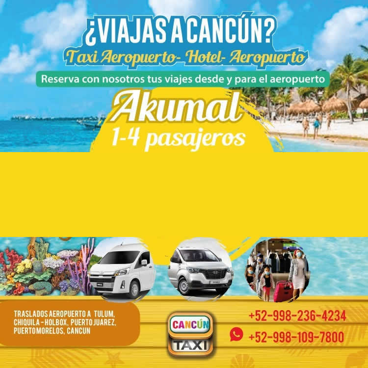 Cancun Airport transfer to Akumal