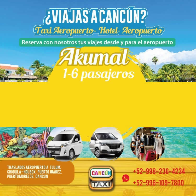 Cancun Airport transfer to Akumal.