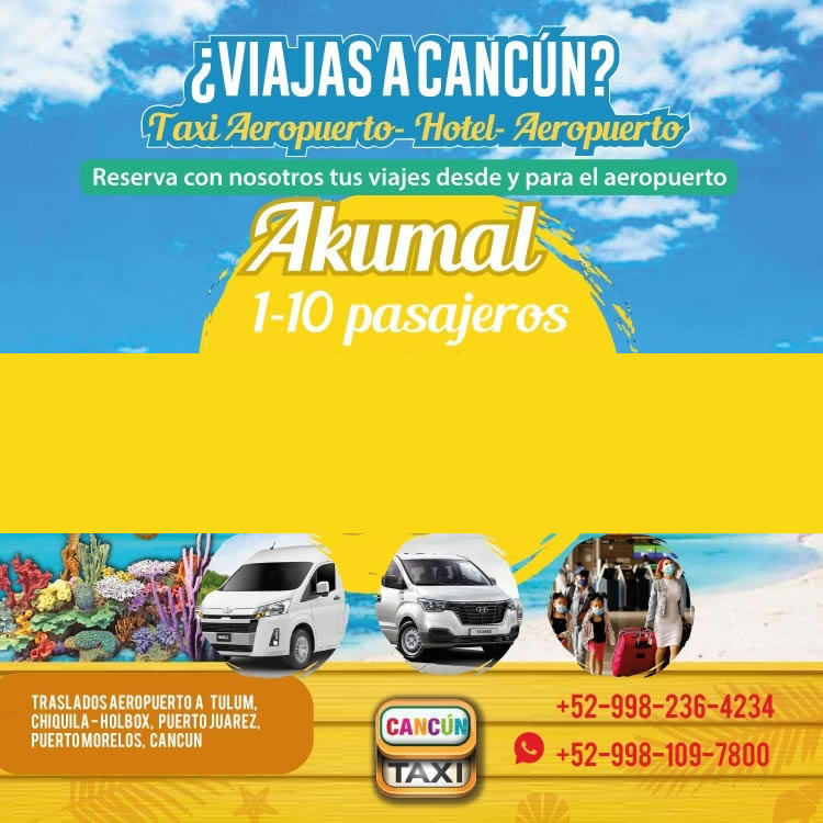 Cancun Airport transfer to Akumal!