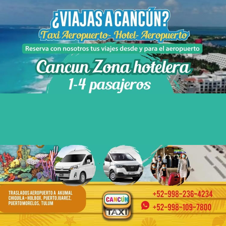 Cancun Airport transfer to Cancun Hotel Zone