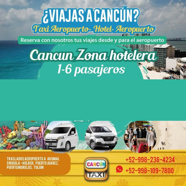 Cancun Airport transfer to Cancun Hotel Zone.