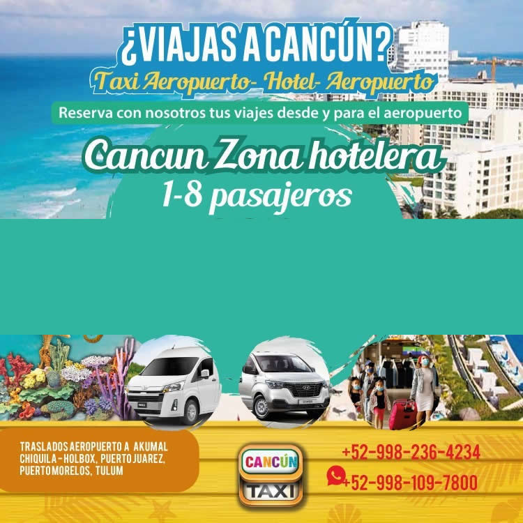 Cancun Airport transfer to Cancun Hotel Zone!
