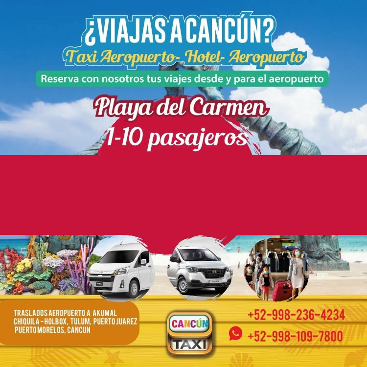 Cancun Airport transfer to Playa del Carmen